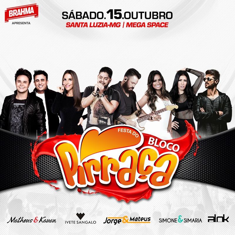 BH Recebe a 6a edição da Festa do Bloco Pirraça com grandes nomes da Música Brasileira